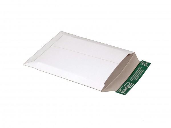 Versandtasche aus Vollpappe weiß